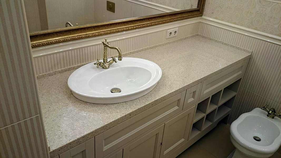 Столешница из искусственного камня в ванную дешево